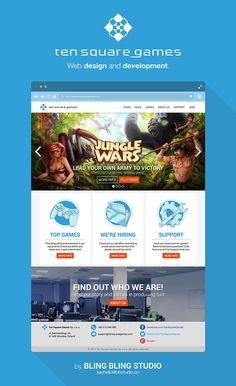 Ten Square Games - Web Design/Development on Behance