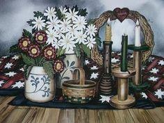 "Laurie Korsgaden"" Candles & Crocks "" Art Print"
