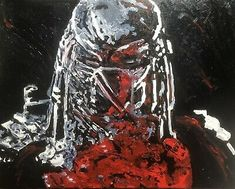 """Bloody Predator"", #michaelscottwoodcock Art Original Oil Painting Canvas 