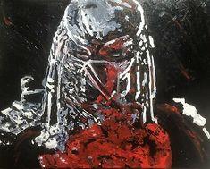 """Bloody Predator"", #michaelscottwoodcock Art Original Oil Painting Canvas | eBay Painting Canvas, Canvas Art, Ebay Sale, Michael Scott, Famous Art, Predator, Oil, Gallery, Artist"