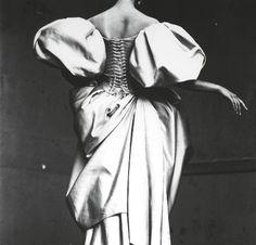 beautiful corset-back dress by Christian Lacroix July 1995 Photo: Irving Penn Mary Ellen Mark, Ellen Von Unwerth, Christian Lacroix, Celine, Corset Back Dress, Irving Penn, Vogue, Annie Leibovitz, Mario Testino