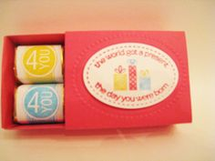 Matchbox Nuggets by shcommish - Cards and Paper Crafts at Splitcoaststampers