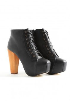 Missguided - Palma Leather Lace Up Shoe Boots