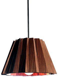 Wooden light shade