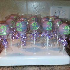 2nd Birthday cake pops