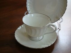 Syracuse China Silouette Wedding Ring China Individual Tea Sets! by BucketListGarnishes on Etsy