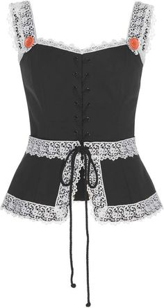 Dolce & Gabbana Sleeveless Drill Poplin Top In Black Unif Clothing, Tank Top Outfits, Cute Crop Tops, Fashion Brand, Fashion Design, Dress And Heels, Ladies Dress Design, Fashion Outfits, Womens Fashion