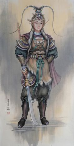 """""""Fan Leihua"""" by Annie Wong Leung Kit Wah - A legendary Turkic princess and woman warrior from the Tang Dynasty."""