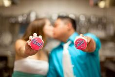 Cupcake Kiss - Prenup Photo - Blurry Background - Facinated - Mini Cupcakes with their name - Delighted - Couple Kissing - Holding both a Cupcake - Love - Happiness - Tenderness.jpg