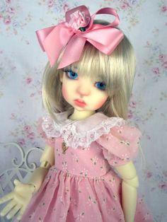 Pink Dress fits Kaye Wiggs, Talyssa, Mei Mei, Dollstown. LittleCharmersDollDesgn  www.LittleCharmersDollDesigns.com