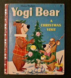 Vintage Little Golden Book - #433 Yogi Bear A Christmas Visit 1961 1st edition  • #433 Yogi Bear A Christmas Visit • 24 pages A edition 1961 • illus: Sylvia & Burne Mattinson • by: S. Quentin Hyatt Good Vintage Condition