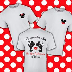 Custom personalized shirt for your anniversary vacation at Disney. Personalized with names and years.  If you have any custom ideas or would