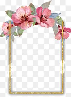 Bonita acuarela flores frontera