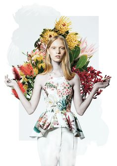 ❀ Flower Maiden Fantasy ❀ beautiful art & fashion photography of women and flowers - Henry Hudson - Cameo The Label