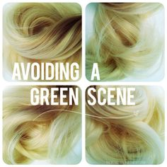 Tips and Tricks for preventing the chlorine build up in hair and chlorine from turning your blonde green.  READ THE COMMENTS TOO!!!!!! TBDgreenhair