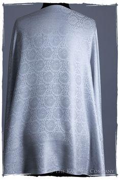 Argent Silver Paisley Silk Scarf / Shawl