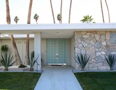 The Best Way to Choose a Front Door Colour from Palm Springs - Benjamin Moore HC 138 Covington Blue or SW 6479 Drizzle 15 Best Front Door Colours in Palm Springs -