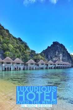 Hotels and huts over the water in El Nido in the Philippines! This was such an incredible experience! Phillipines Travel, Dream City, Palawan, Tropical Paradise, Rock Climbing, Snorkeling, Kayaking, Cool Pictures, Hotels