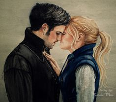 Captain Swan - The Other Tale watercolour painting. Once Upon a Time fanart