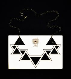 Jenia . lasercut poplar wood . triangle necklace . contemporary jewelry design www.jeniadesign.com Machining Process, Laser Cutting, Geometry, Jewelry Design, Jewels, Contemporary, Diy, Do It Yourself, Jewelery