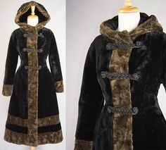 Incredible Vintage 1970s Faux Fur Russian Princess Coat with Hood by madvintage
