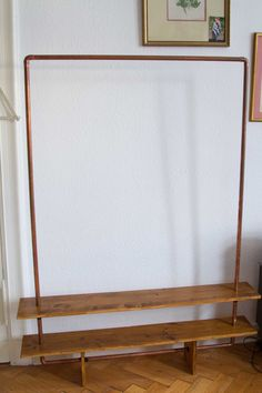 Industrial Clothing Rack with Double Shelf Closet by greatcopper