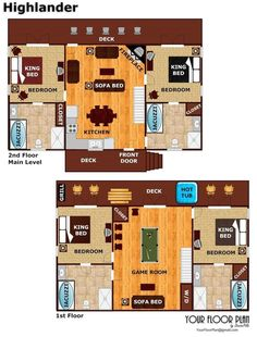 Log Cabin Floor Plan in Gatlinburg, TN