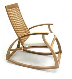 Aria Modern Contemporary Luxury Teak Rocking Chair - modern - Rocking Chairs - Orange County - Westminster Teak Furniture