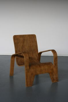 Han Pieck; Bent Beech Plywood Lounge Chair for Ommen, c1946.