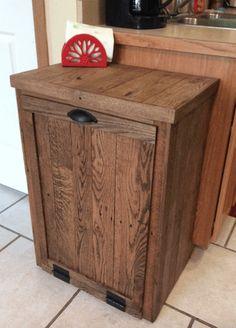 Pallet Oak Trash Cabinet Cabinets & Wardrobes