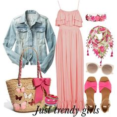 pink dress , Maxi summer dresses for  girls http://www.justtrendygirls.com/maxi-summer-dresses-for-girls/