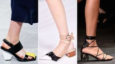 Chunky block heels ruled the runway, which are not only on-trend but also comfortable. Our feet are ... - Indigital Images; Catwalking/Getty Images; Pascal Le Segretain/Getty Images