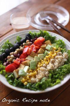 野菜たっぷり!玄米コブサラダ |うーらオフィシャルブログ「うーらのオーガニックレシピ手帖」Powered by Ameba
