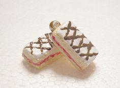 Bakewell Slice Earrings Polymer Clay by GiraffesKiss on Etsy, £7.50
