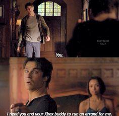 You and your X-Box buddy haha love Damon's snarky humor!