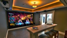 small video game rooms | ... into Golf Course or Game Room, by Lisa Montgomery - Electronic House