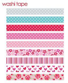 Hearts and flower washi tape - Doodlebug Design