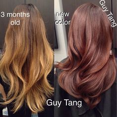 #autumn #fall #warmtonecolor #balayage #ombre by #guytang