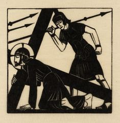 'Jesus Falls the First Time', Eric Gill, 1917 | Tate