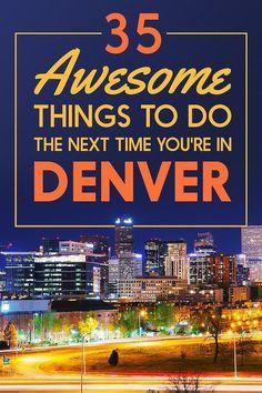 35 Awesome Reasons To Visit Denver, Colorado. Lots of restaurant ideas. Colorado Springs, Vail Colorado, Colorado Trip, Colorado Vacations, Colorado Mountains, Colorado In The Summer, Cherry Creek Colorado, Colorado Tourist Attractions, Living In Denver Colorado