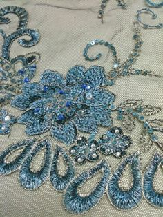 Beaded Lace Fabric   Embroidery Fabric Beading Lace