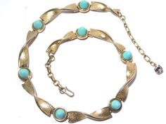 Vintage Boucher Marboux Necklace Turquoise Bead by darsjewelrybox