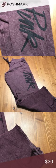PINK sweatpants Very good condition! Has some wear at the bottom but still has lots of life! PINK Victoria's Secret Pants Track Pants & Joggers
