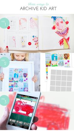 3 ways to archive your kid's art.