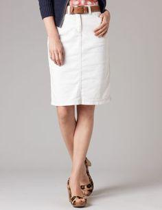 a much-needed white denim skirt