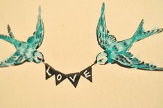 All You Need Is Love: Swallow Wall Art - Suburble