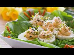 Jajka faszerowane z łososiem - VideoKuchnia.pl - YouTube