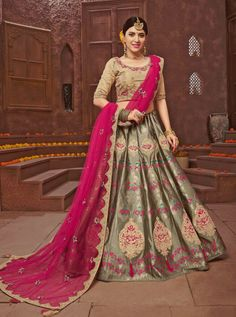 We offer latest and exclusive wedding lehenga choli and party wear lehenga choli. This delightsome embroidered, lace and resham work orange lehenga choli. Lehenga Choli Online, Bridal Lehenga Choli, Lehenga Saree, Saree Wedding, Anarkali Frock, Desi Wedding, Wedding Wear, Saree Blouse, Indian Designer Sarees