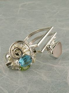 Gregory Pyra Piro #Sterling #Silver and #Gold #Ring 6043