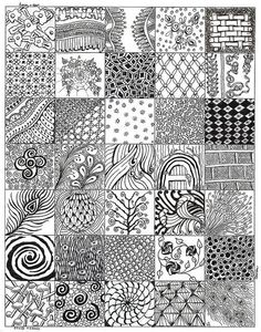 A zentangle design